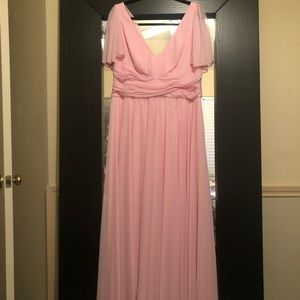 2 Bridesmaid Dresses (Tickled Pink) David's Bridal
